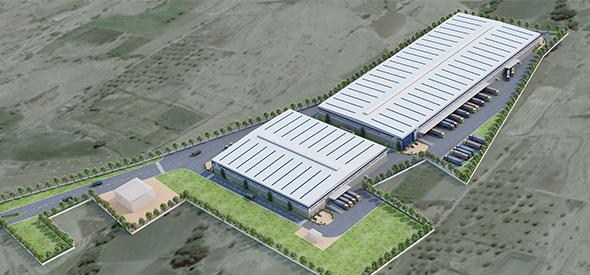 Oragadam II Phase II Warehouse Aerial View